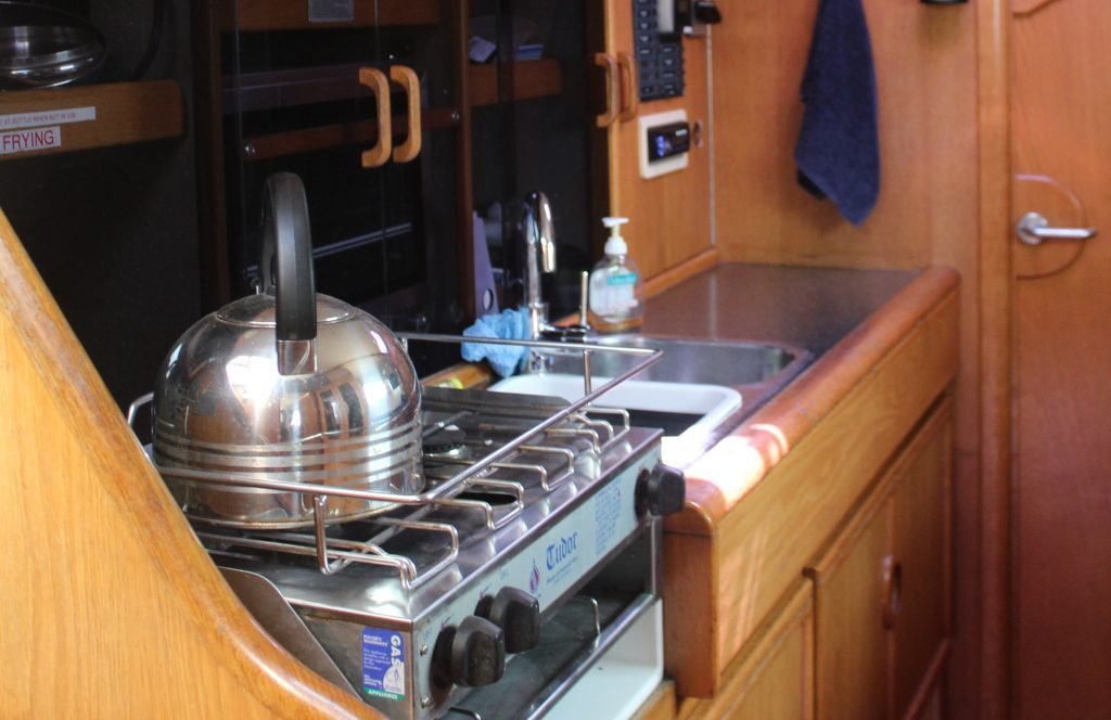 Yacht hire on Indigo featuring full kitchen